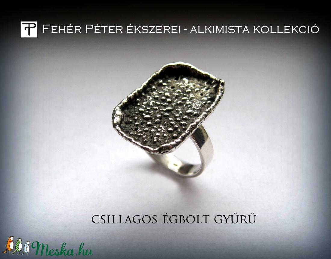 Csillagos égbolt gyűrű (egszeresz) - Meska.hu
