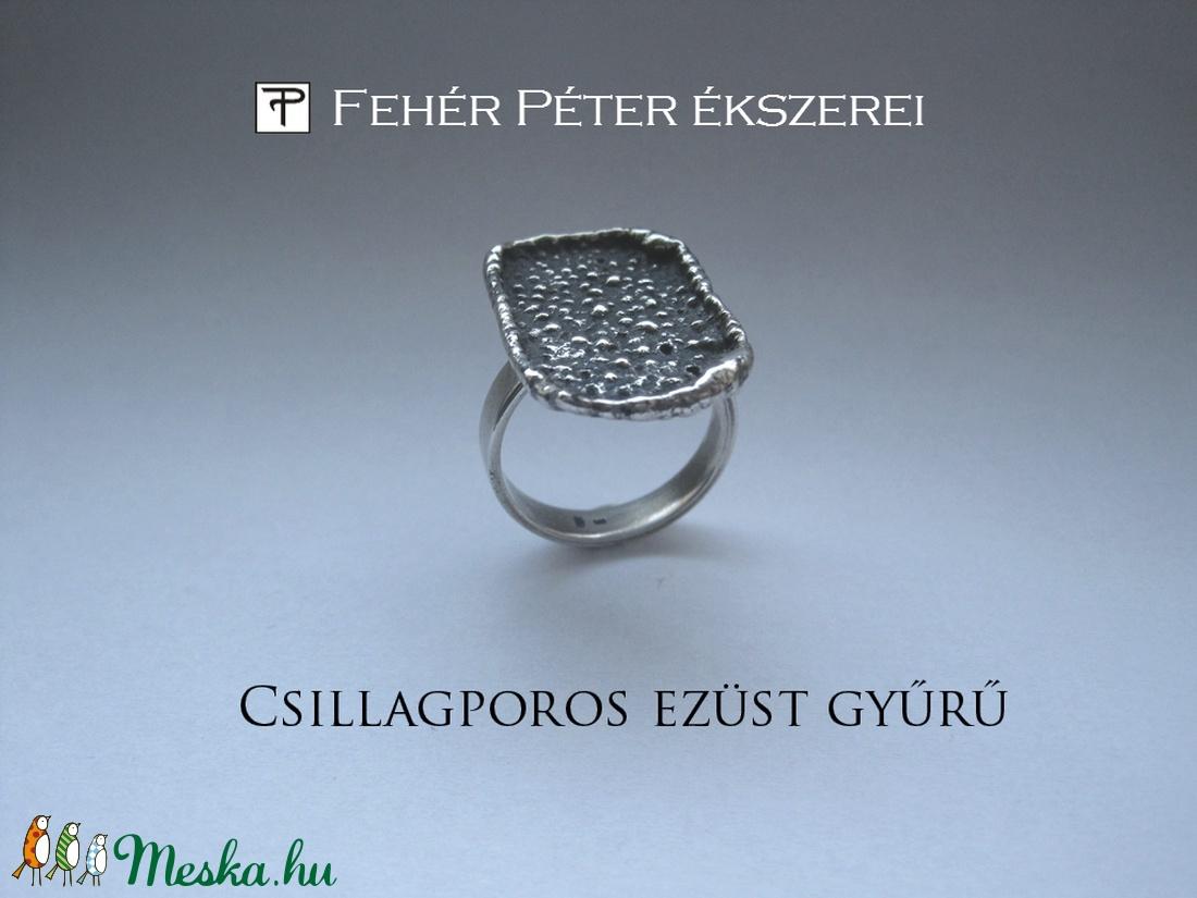 Csillagporos ezüst gyűrű (egszeresz) - Meska.hu