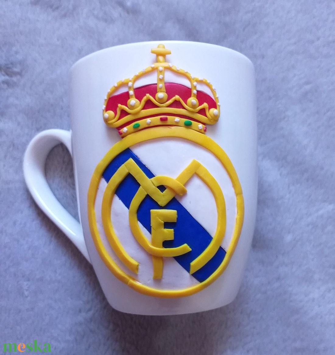 Real Madrid címeres bögre - Meska.hu