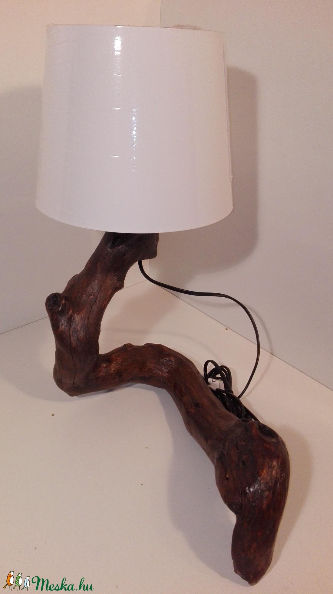Görbefa lámpa (elementart) - Meska.hu