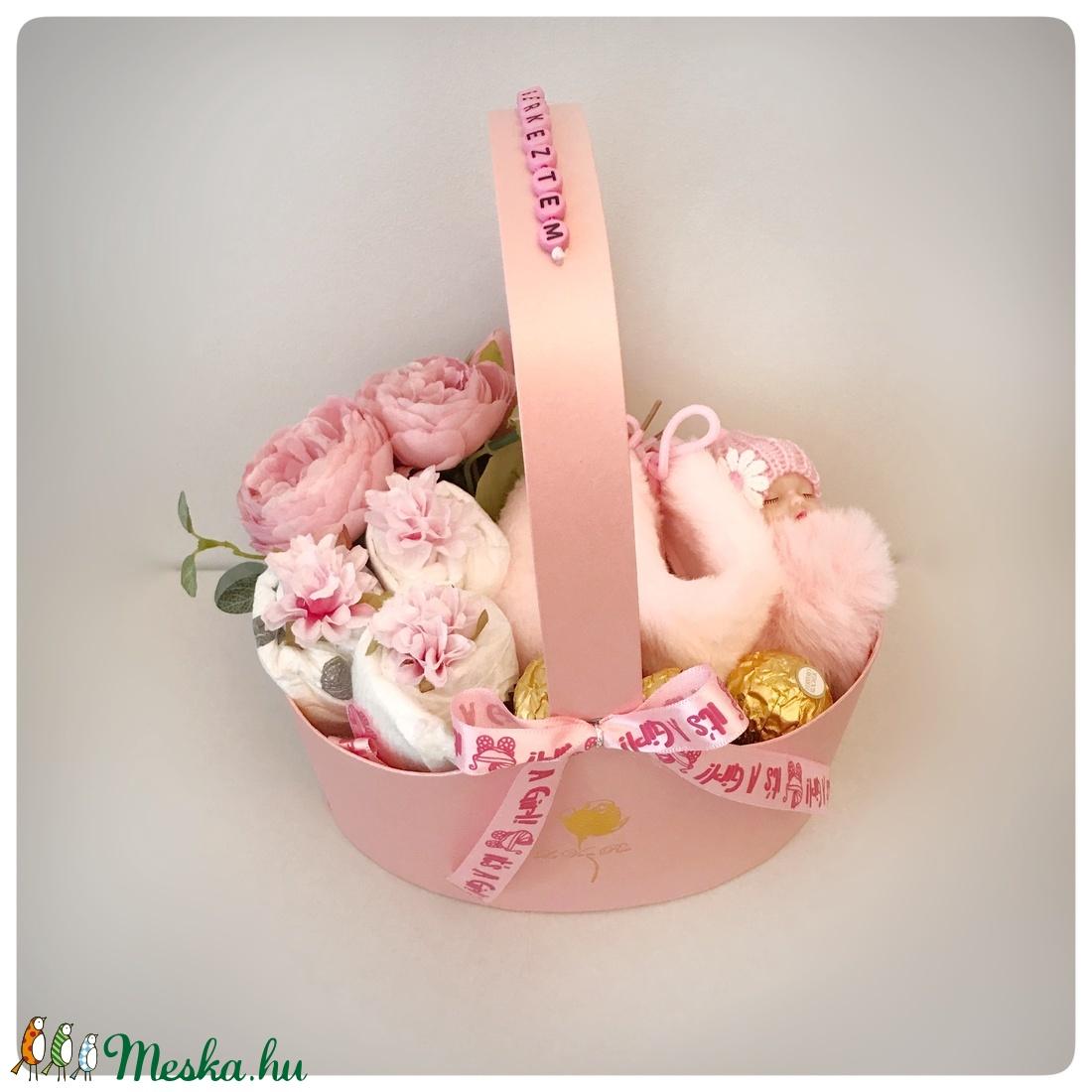 Rózsaszín babaváró doboz (Elitdecor) - Meska.hu