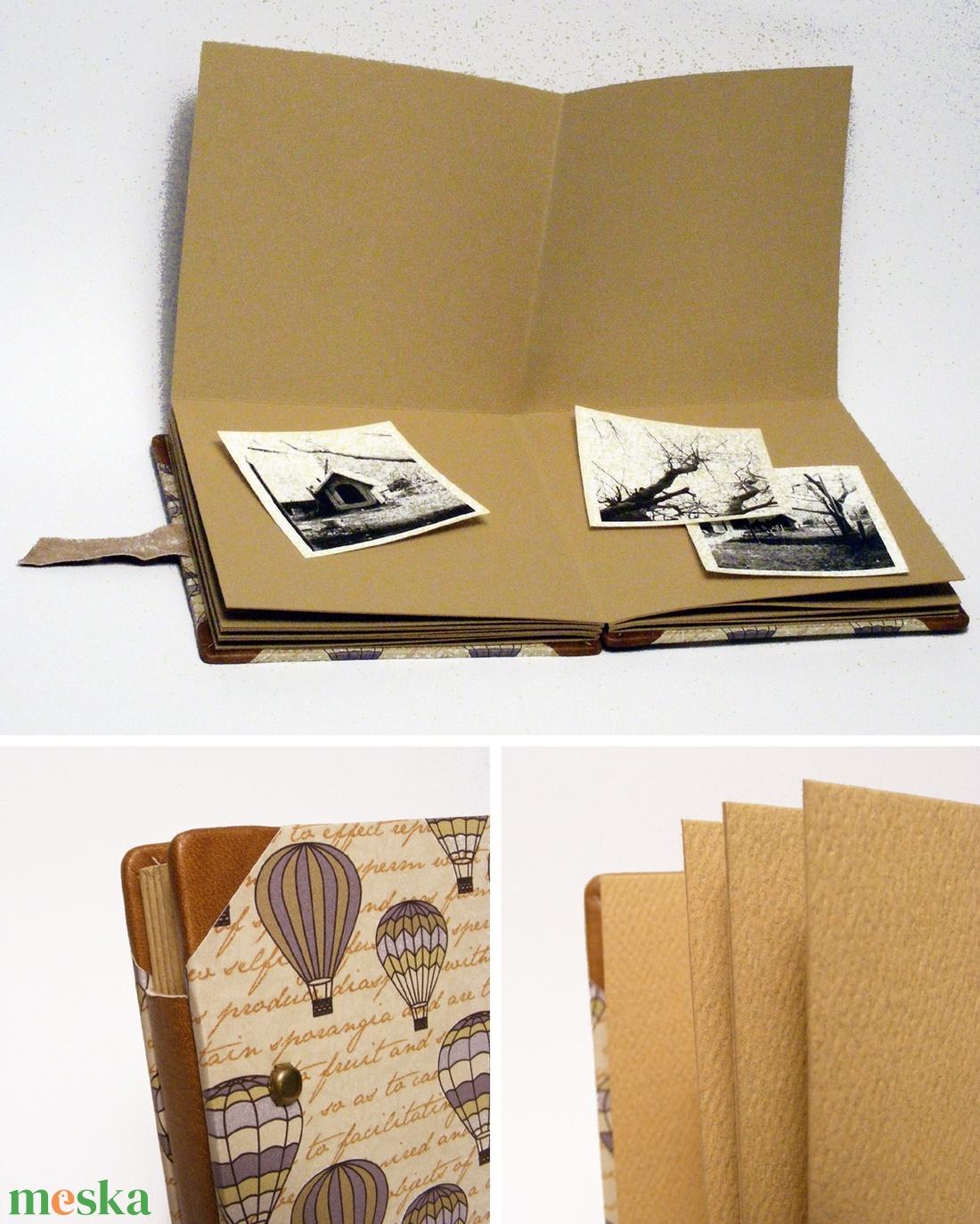 Fotóalbum, scrapbook album, steampunk album férfiaknak, bőrrel és fém szegecsekkel - otthon & lakás - papír írószer - album & fotóalbum - Meska.hu