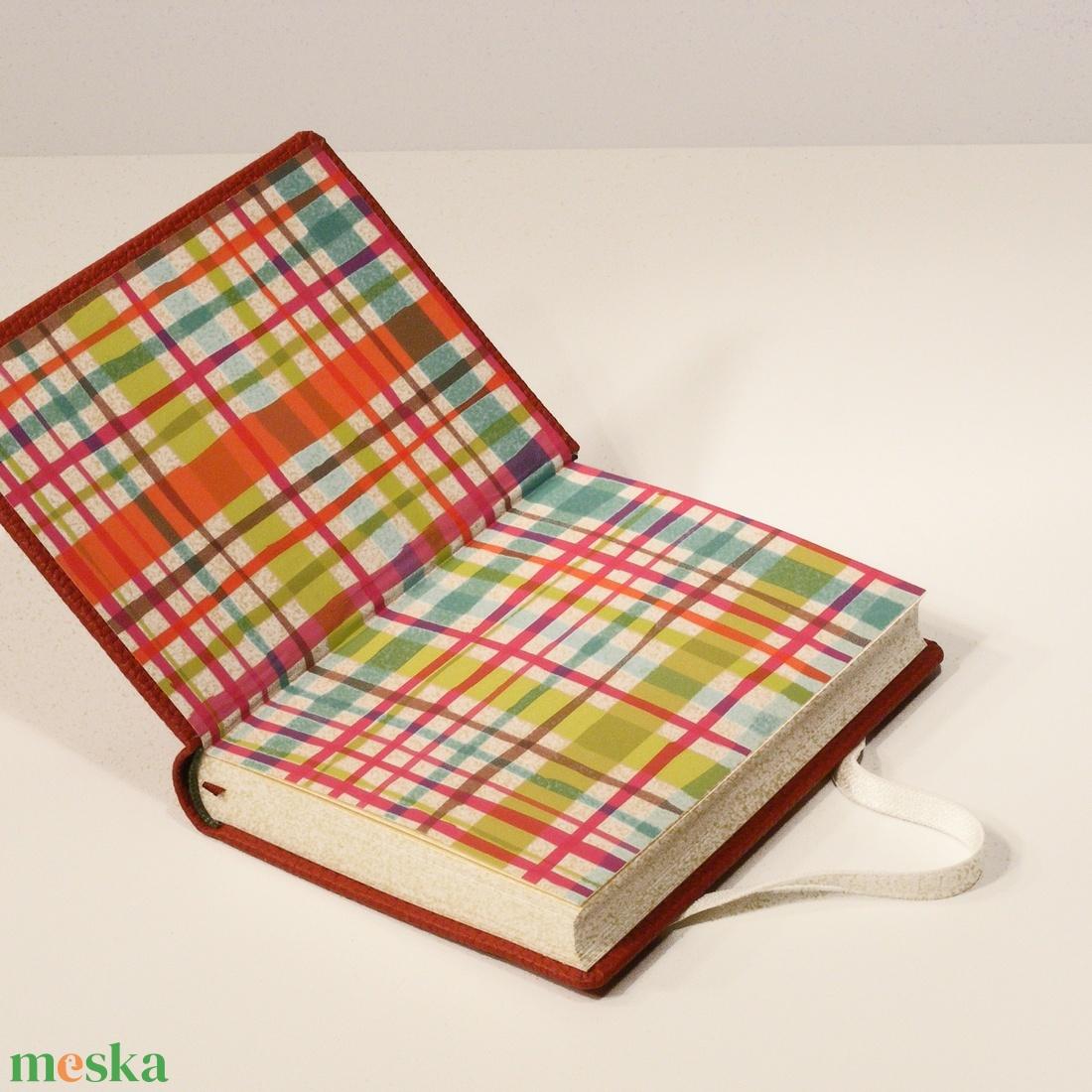 Bordó műbőr jegyzetelő, napló sima, üres lapokkal, gumival - otthon & lakás - papír írószer - jegyzetfüzet & napló - Meska.hu