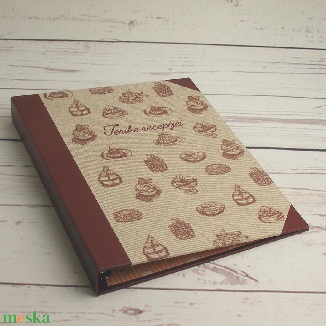 Süteményes konyhai mappa, receptgyűjtő, iratgyűjtő sütni szeretőknek, receptes dosszié sütireceptekhez - otthon & lakás - konyhafelszerelés - receptfüzet - Meska.hu