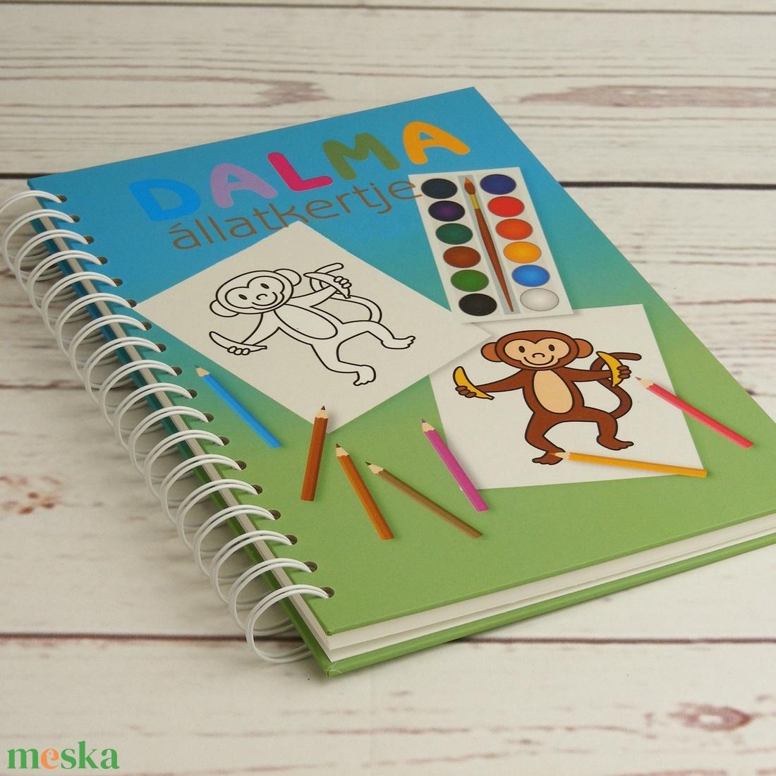 Kifestőkönyv állatokkal kisgyerekeknek. Spirálozott rajzfüzet, színezőkönyv, spirálfüzet színezhető oldalakkal, állatos - játék & gyerek - készségfejlesztő & logikai játék - Meska.hu