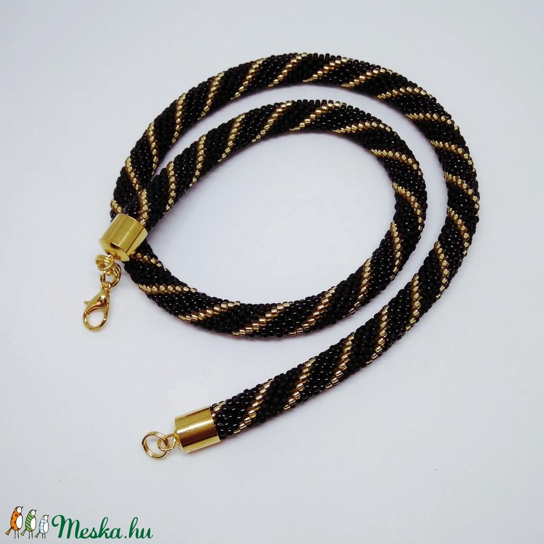 Spiral nyaklánc - arany fekete (epiteszhobby) - Meska.hu e80d056789