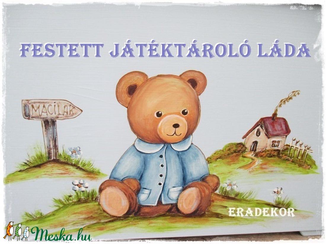 Fa játéktároló kincsesláda - játék & gyerek - babalátogató ajándékcsomag - Meska.hu
