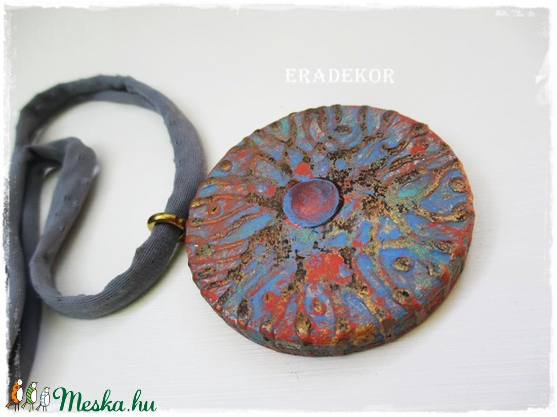 2 oldalas arany pókhálós  boho nyaklánc - ékszer - nyaklánc - medálos nyaklánc - Meska.hu