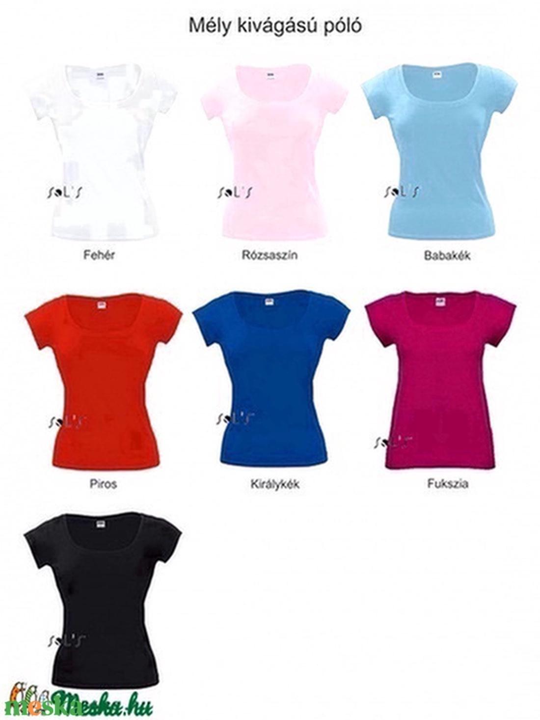 Általad tervezett női póló (mély kivágású, karcsúsított fazon) - ruha & divat - női ruha - póló, felső - Meska.hu
