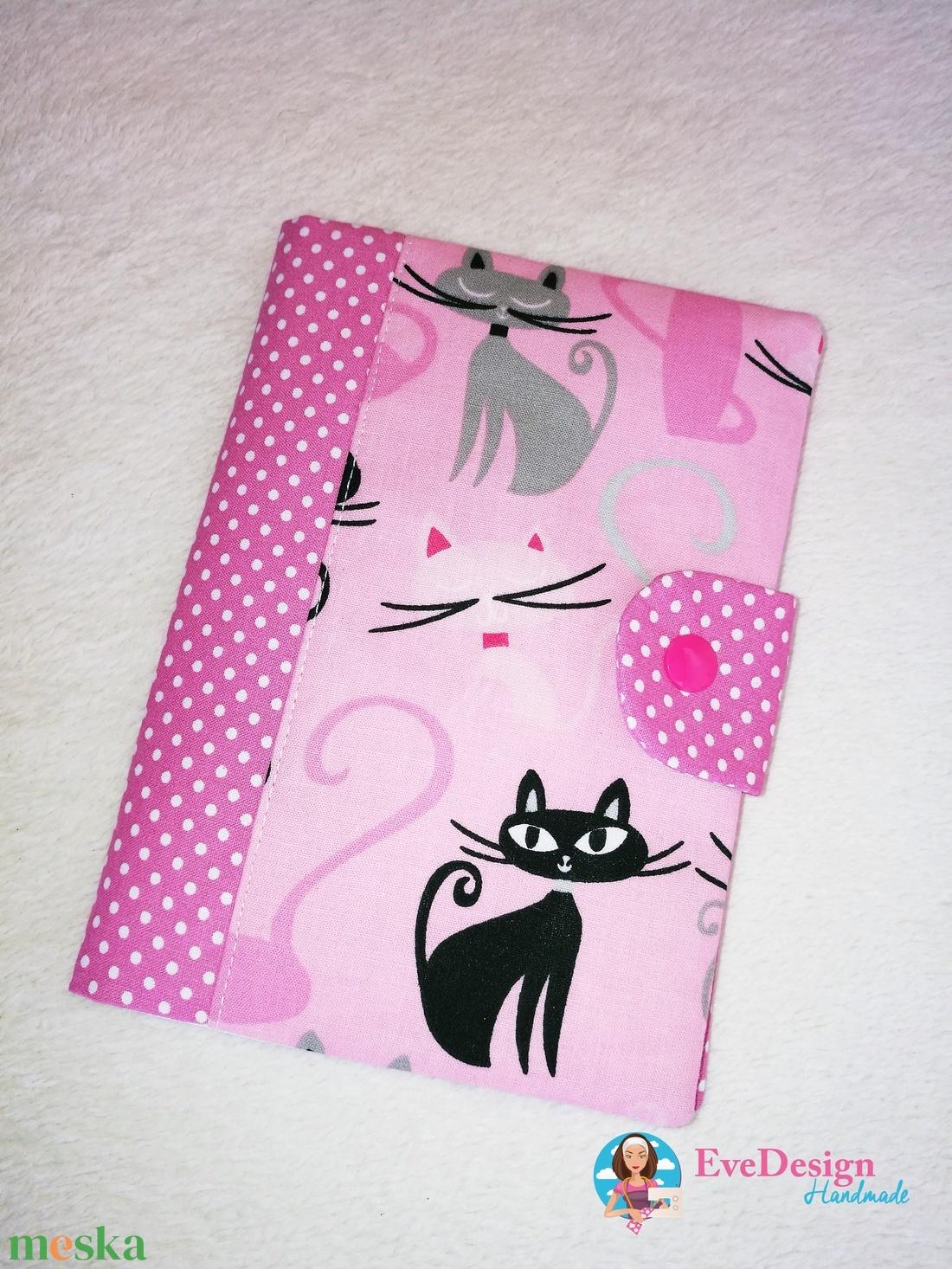 Eü kiskönyv borító textilből-szürke (EveDesign) - Meska.hu