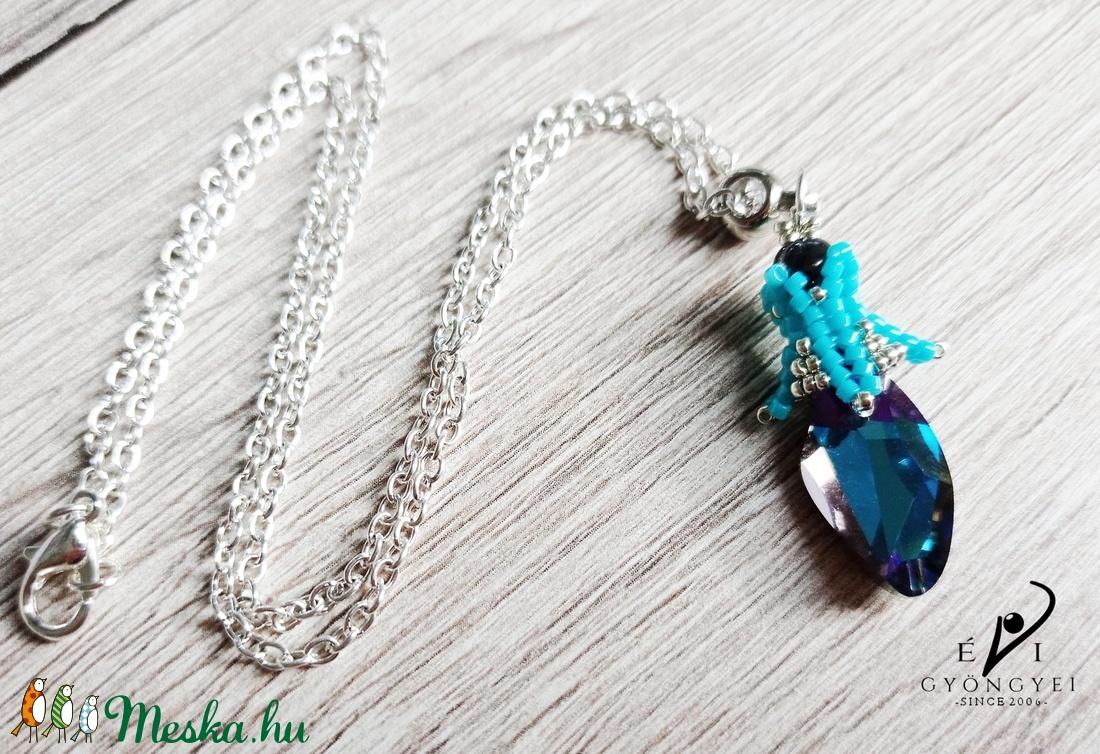 Heliotrope kristály medál - ékszer - nyaklánc - medálos nyaklánc - Meska.hu