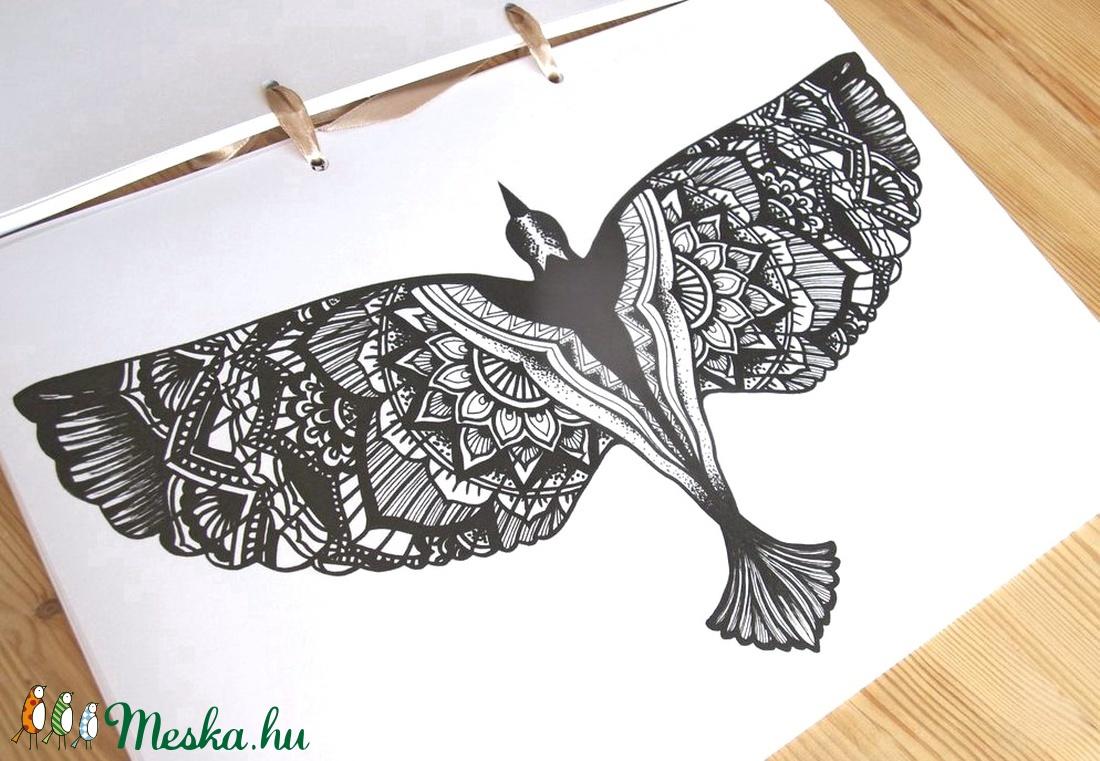 Nyomtatható színező lap, Mandala sas madár letölthető kifestő lap, képeslap, színező lap, kifestő, digitális PDF, Jpeg (EVYHomeDecor) - Meska.hu
