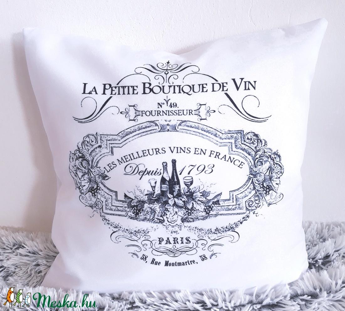 Rusztikus, Provence i farmstílusú díszpárna, farm stílusú dekorpárna, francia hangulatú párna, huzat + belső párna (EVYHomeDecor) Meska.hu