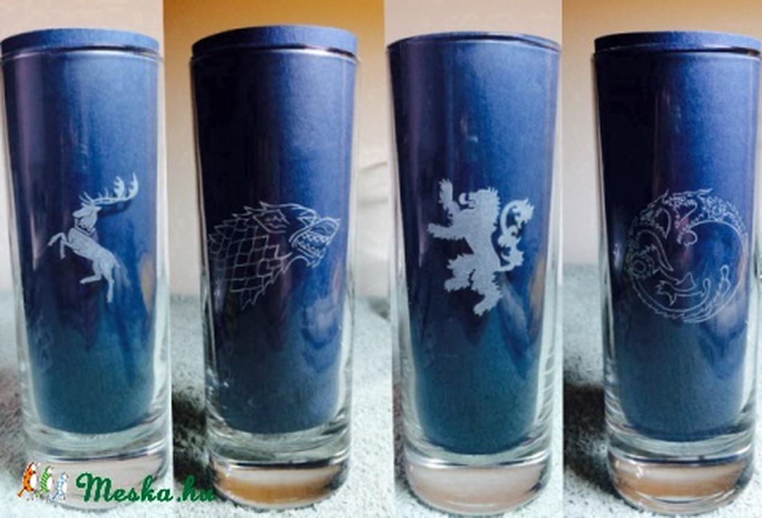 5a411156d5 Game of thrones, Trónók harca long drink pohár készlet 4db (ajándék, férfi,  ...
