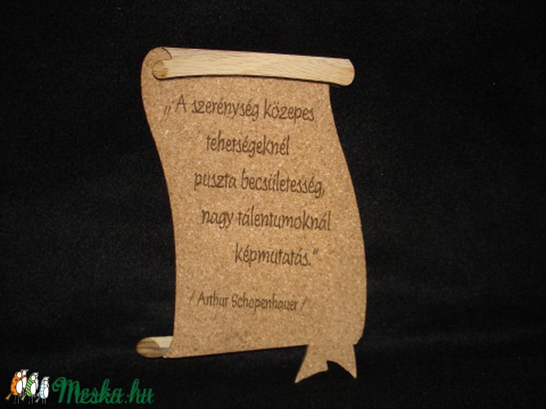 Fapergamen idézettel,Szerénység - otthon & lakás - dekoráció - falra akasztható dekor - Meska.hu