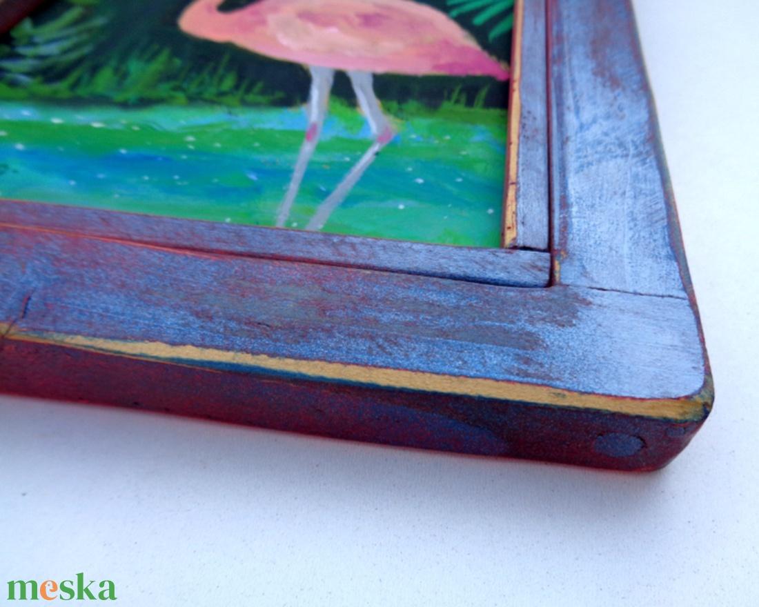 Flamingó  - művészet - festmény - akril - Meska.hu