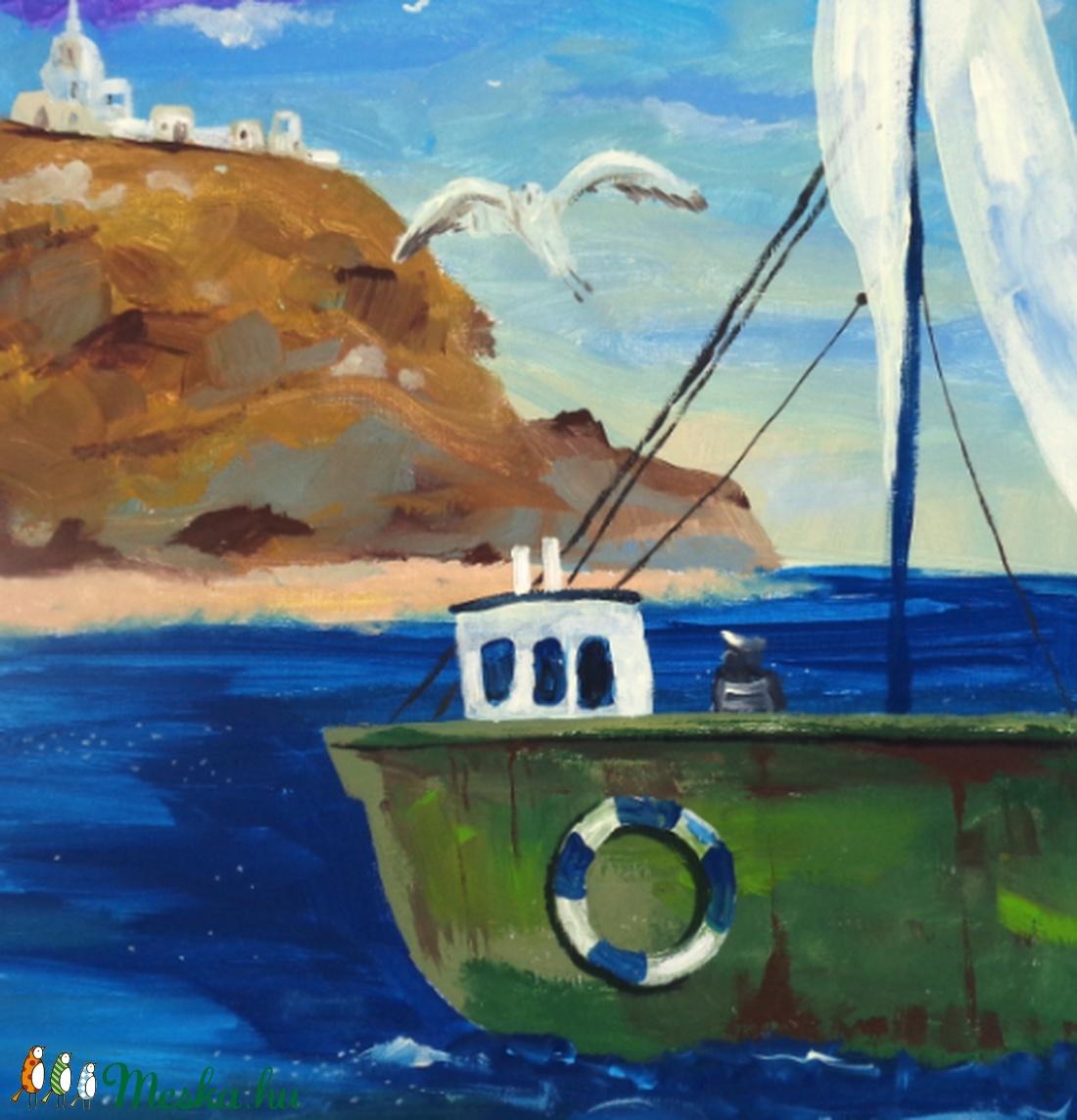 Közel a parthoz - művészet - festmény - akril - Meska.hu