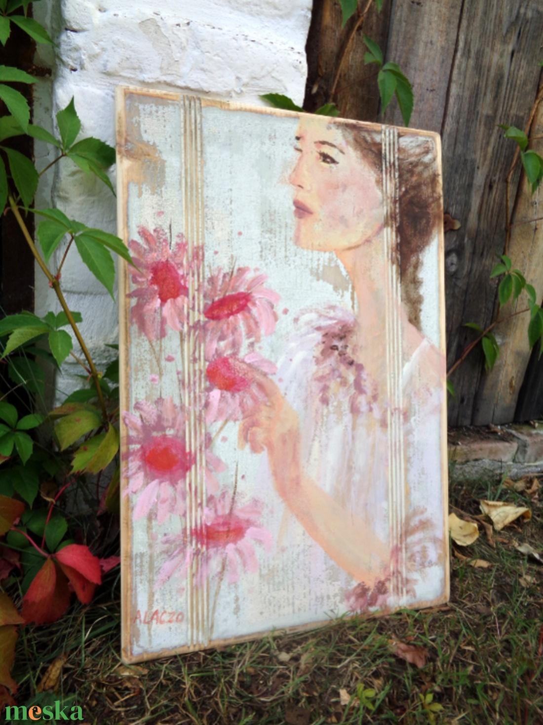 Reggel a kertben - művészet - festmény - akril - Meska.hu