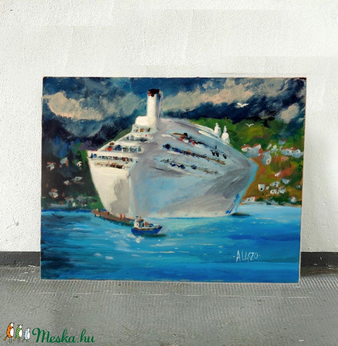 Nagy utazás - művészet - festmény - akril - Meska.hu