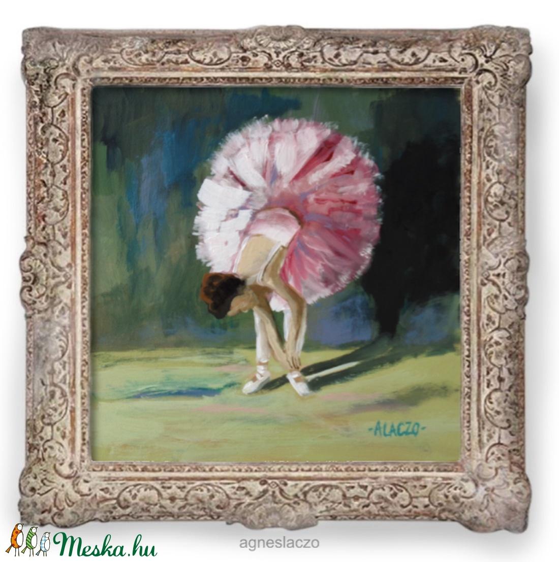 Balerina  - művészet - festmény - akril - Meska.hu