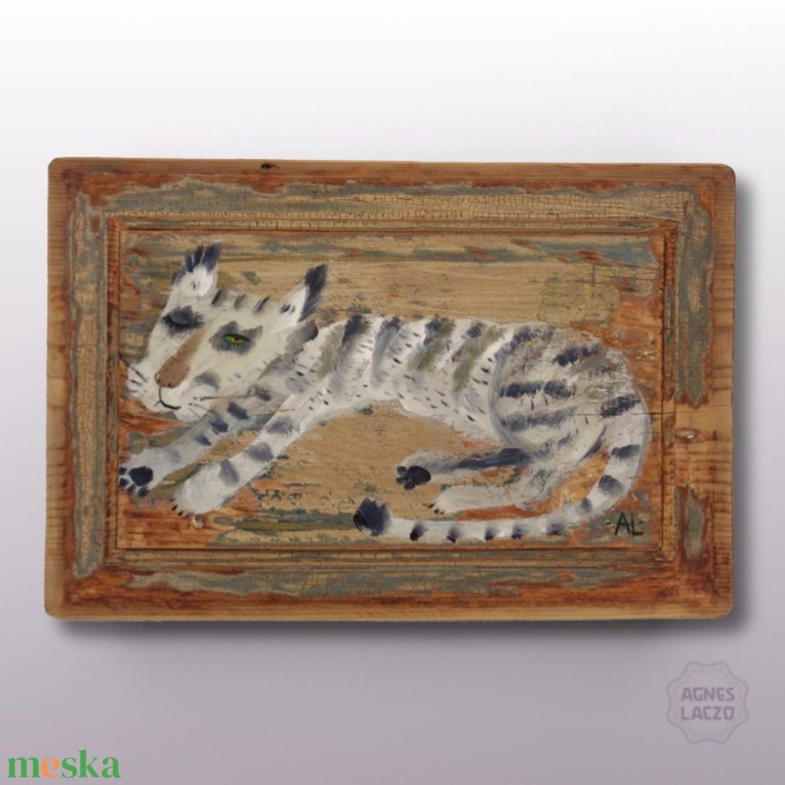Kópé macska - művészet - festmény - festmény vegyes technika - Meska.hu