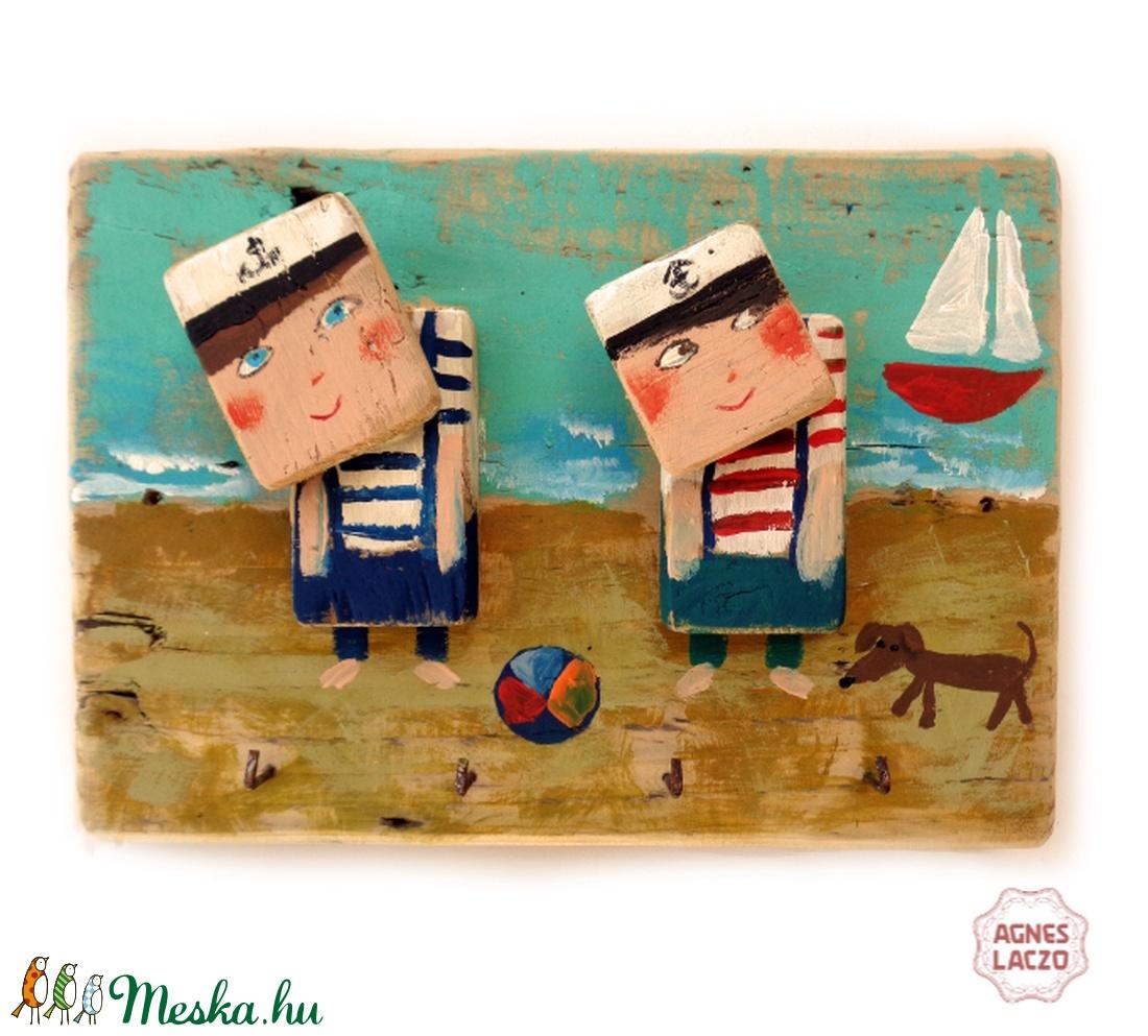 2 kis tengerész - fogas/akasztó - otthon & lakás - bútor - fogas - Meska.hu