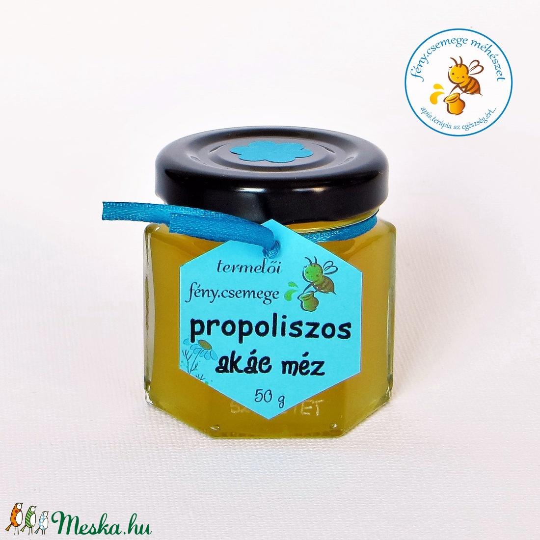 propoliszos akác méz 50 g (fenycsemege) - Meska.hu