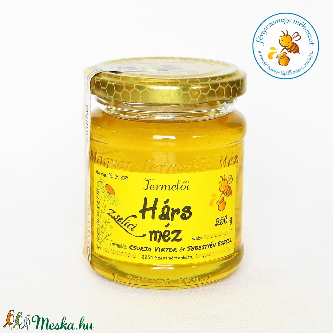 zselici hárs méz (fenycsemege) - Meska.hu