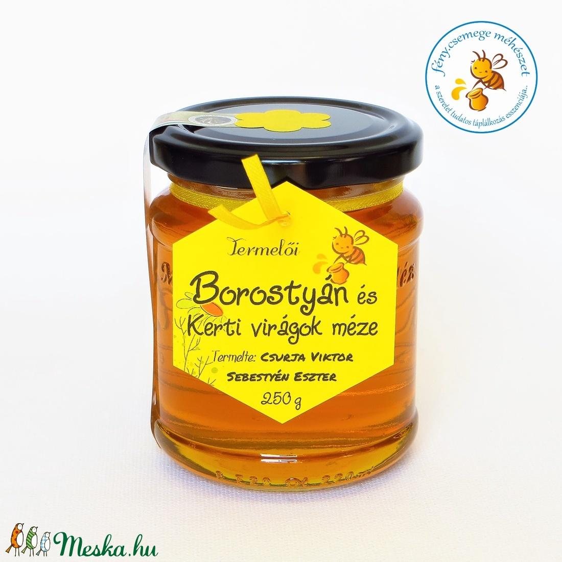 borostyán és kerti virágok méze (fenycsemege) - Meska.hu