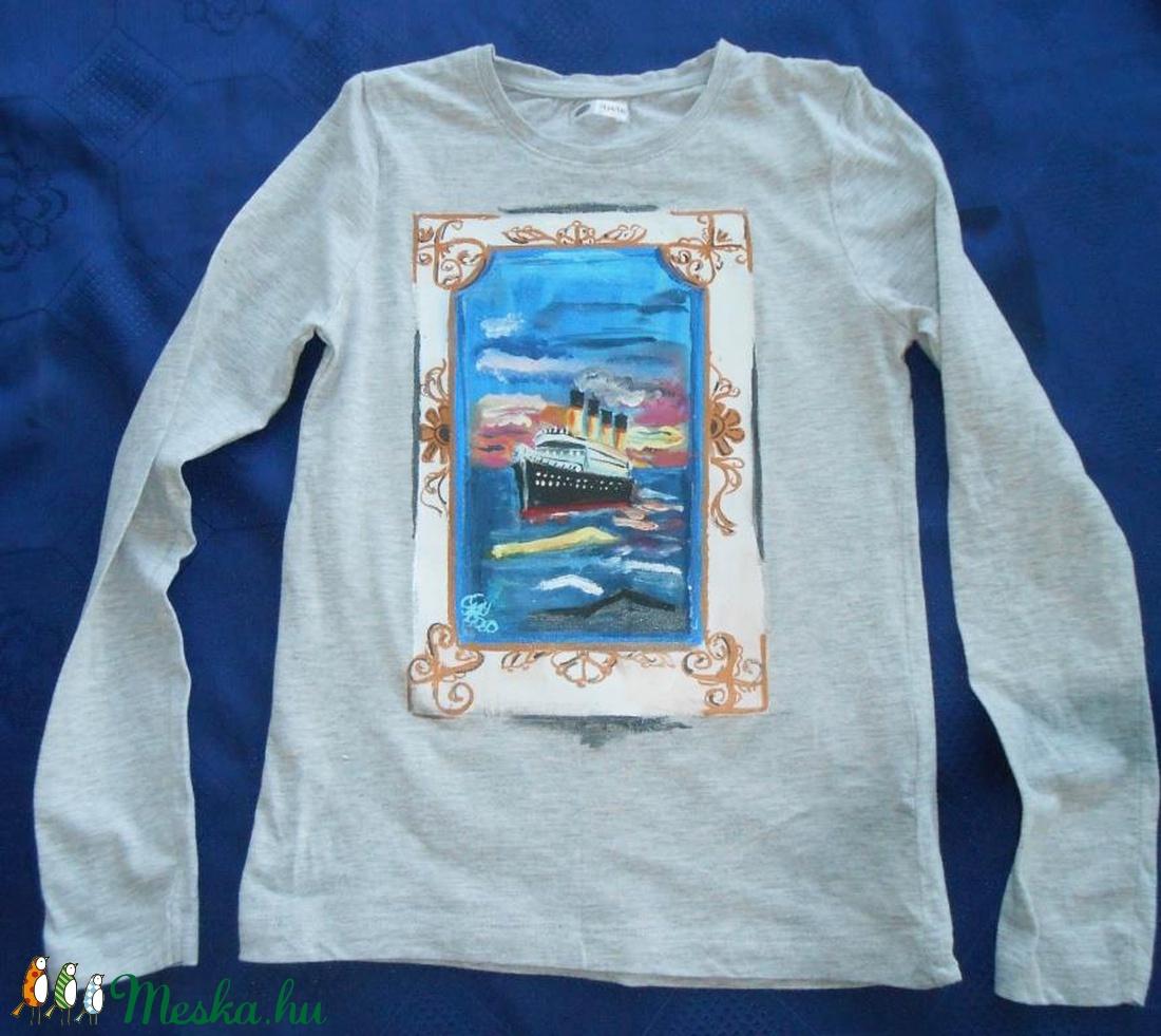 (Fiffancsi) - Meska.hu Titanic Kézzel festett kislány póló PÓLÓIMAT  RENDELŐIM HÖZZÁK! cda5d24a34