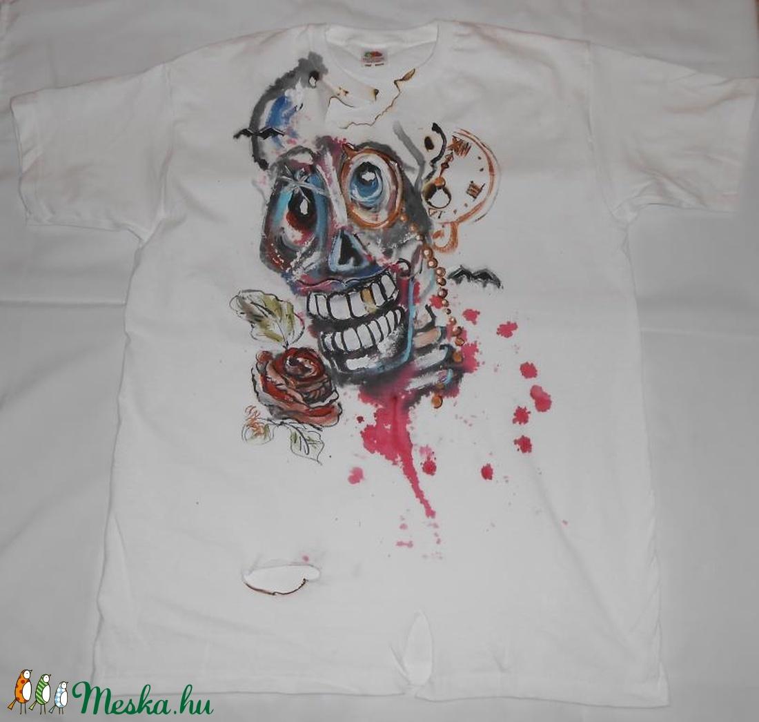 Catrina jelmez fiú minta kézzel festett póló rendelő által biztosított  darabra (Fiffancsi) - Meska.hu 82dd7b221d