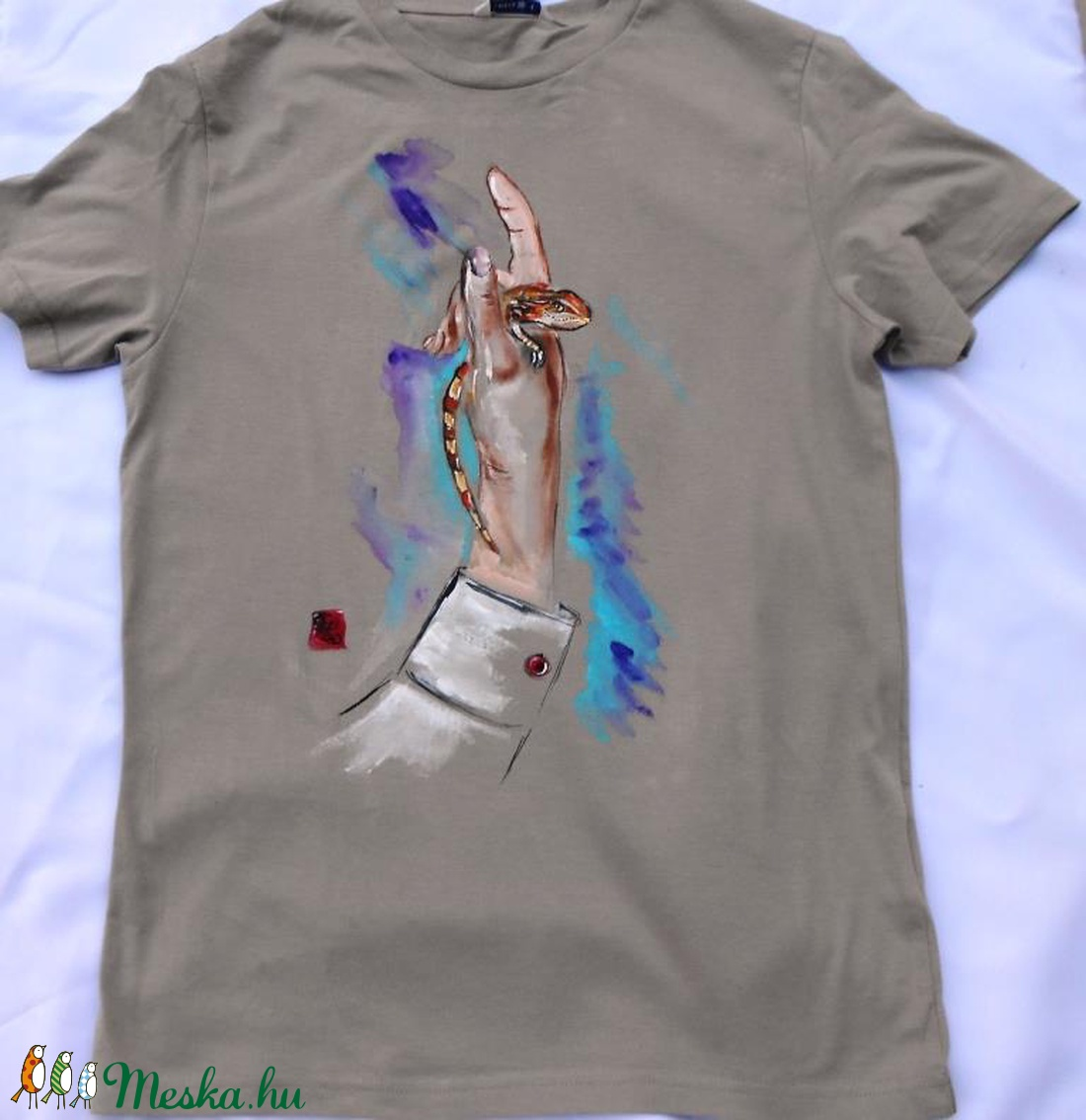 Jolán a Bébi Agáma kézzel festett egyedi póló rendelő által biztosított  alapra (Fiffancsi) - Meska.hu ef4bfd97ee