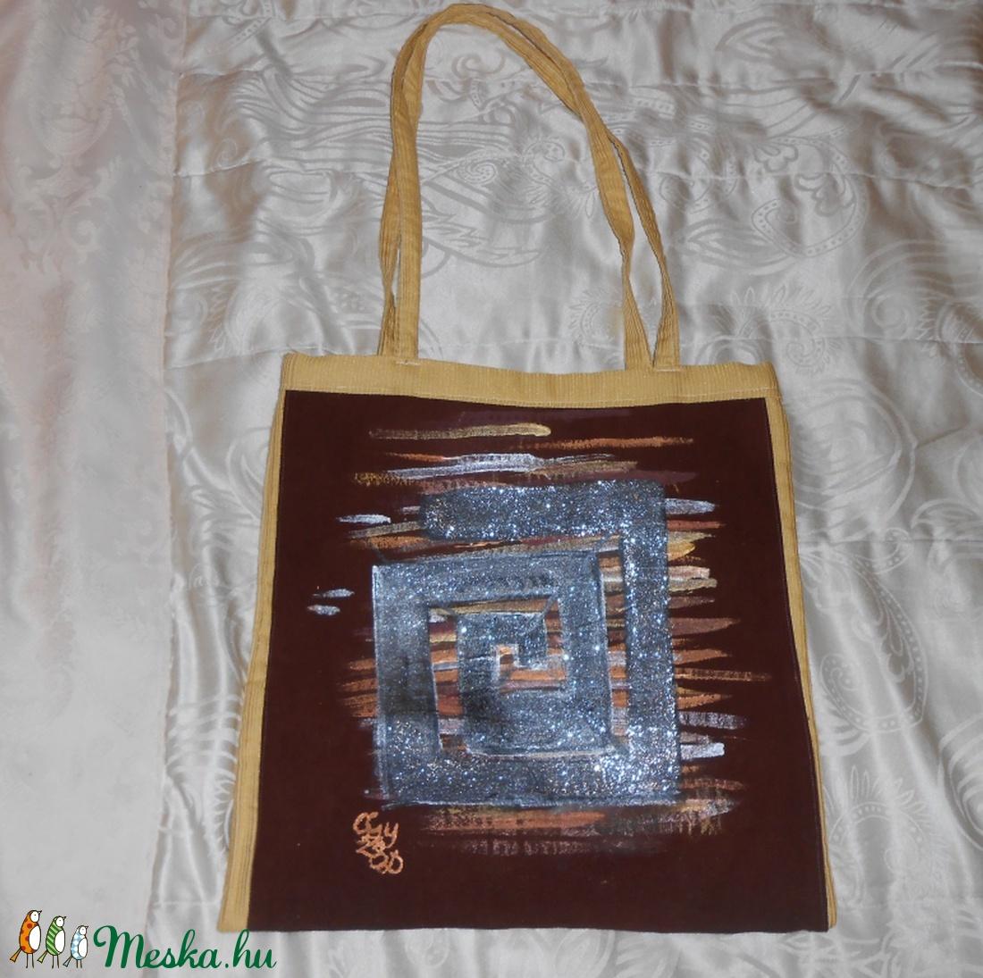 Labirintus bevásárló kézzel festett bevásárló táska (Fiffancsi) - Meska.hu 7d6626ef00