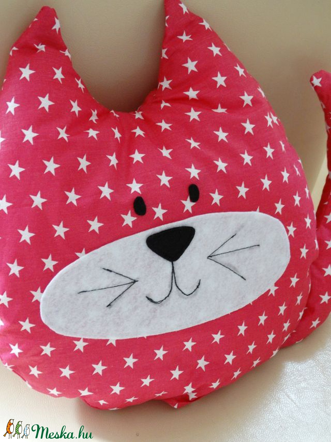 ... Pink Cica - Cica Figura - Cica párna - Textil játék - Textil figura  (filcdekor a284d3421c