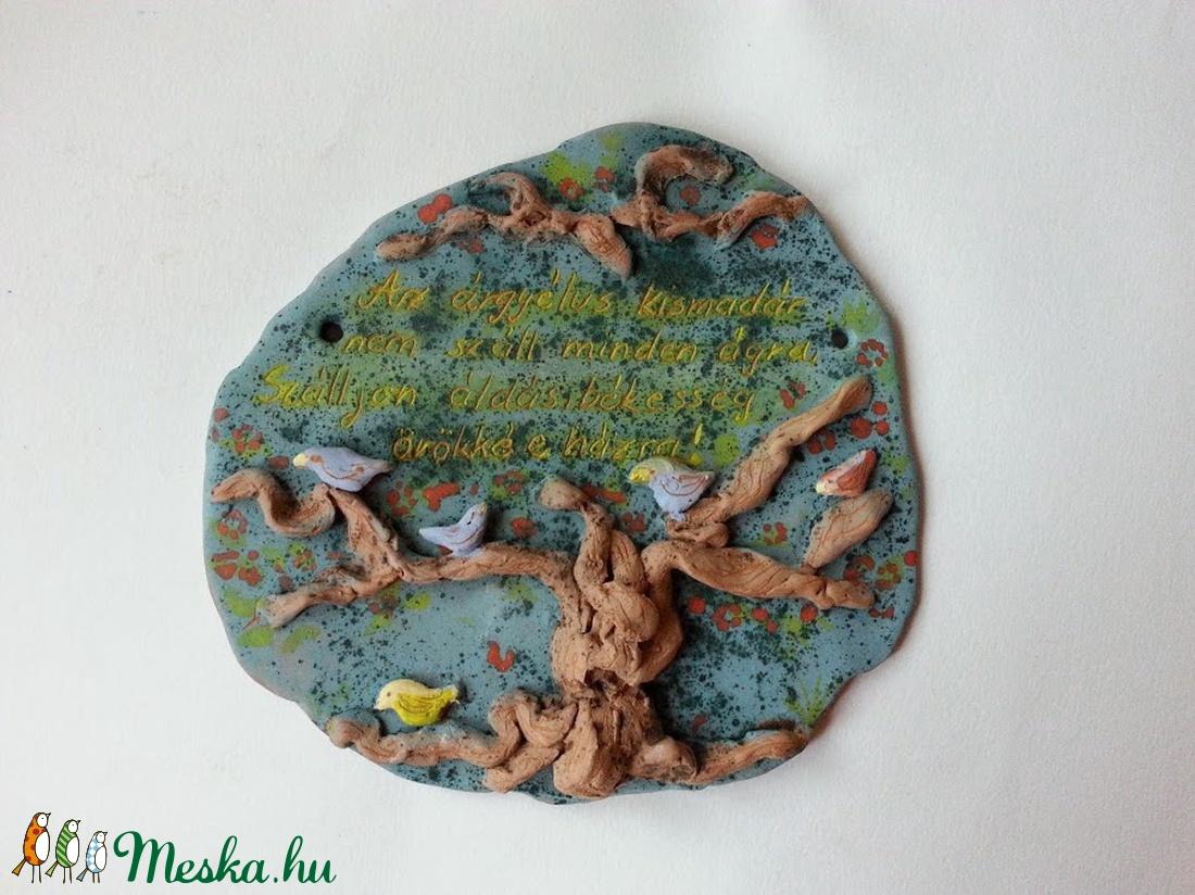 Madárkás, fás domború háziáldás (Foenx) - Meska.hu
