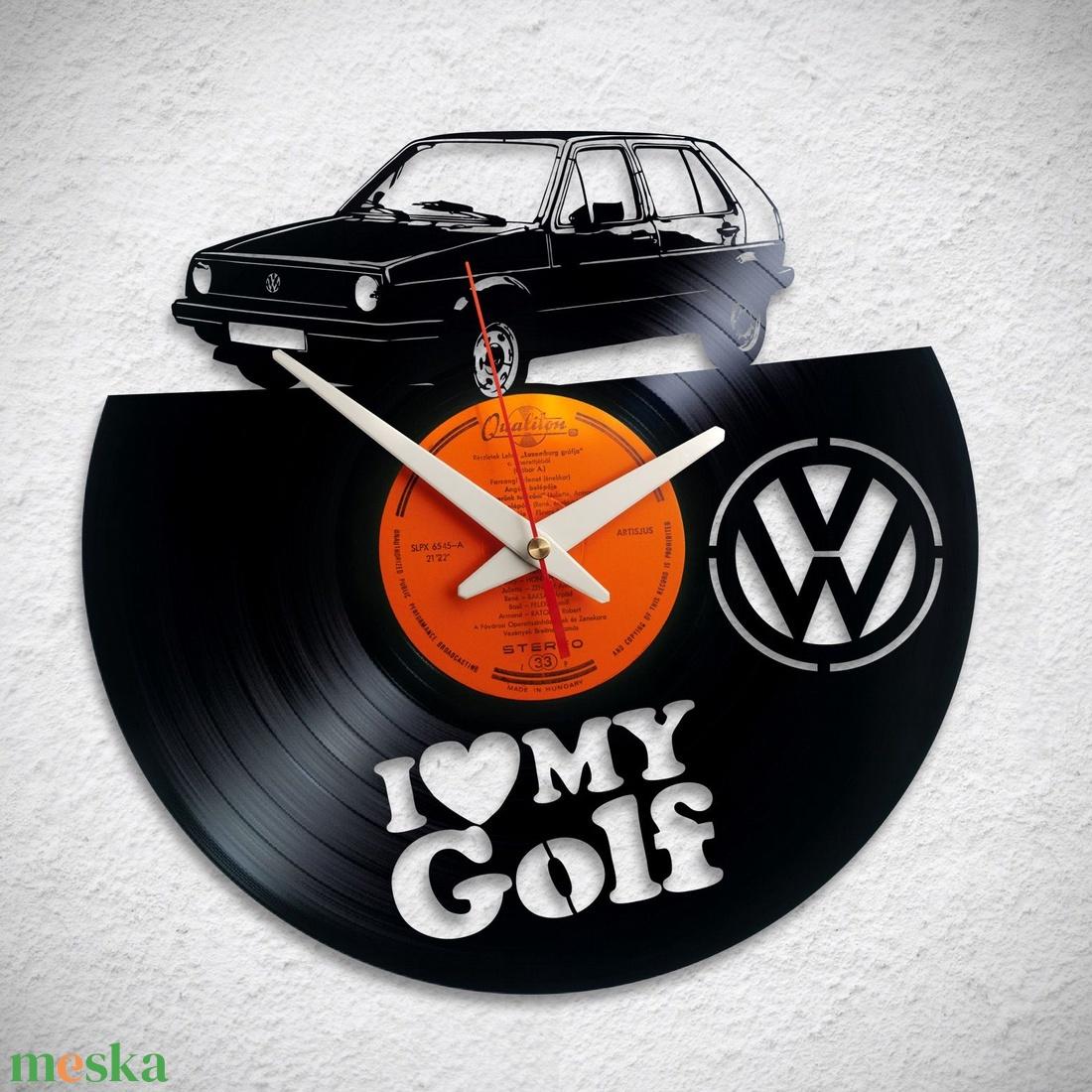 VW Golf - többféle - Bakelit falióra - otthon & lakás - dekoráció - falióra & óra - Meska.hu