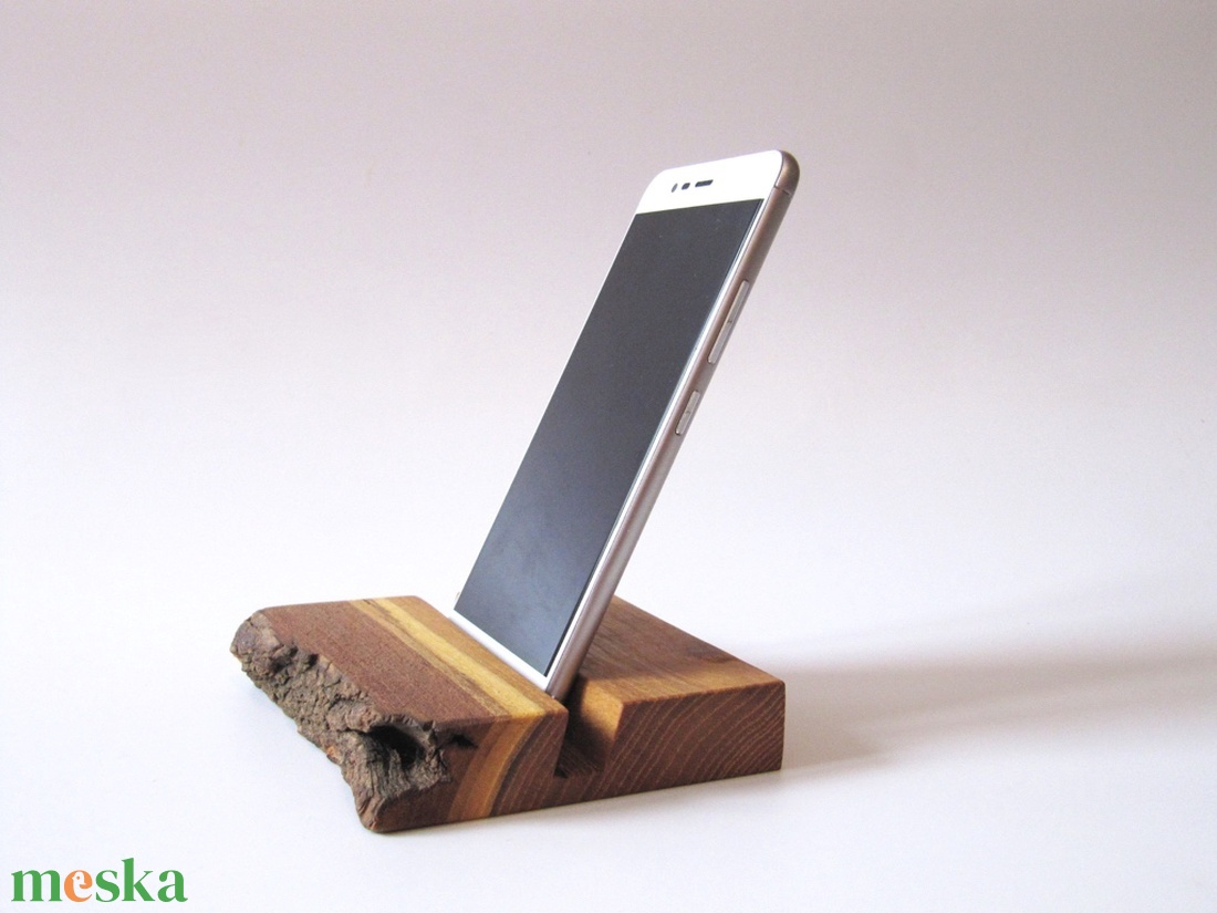Naturális mobiltartó fából (akác) - táska & tok - laptop & tablettartó - ebook & tablet tok - Meska.hu