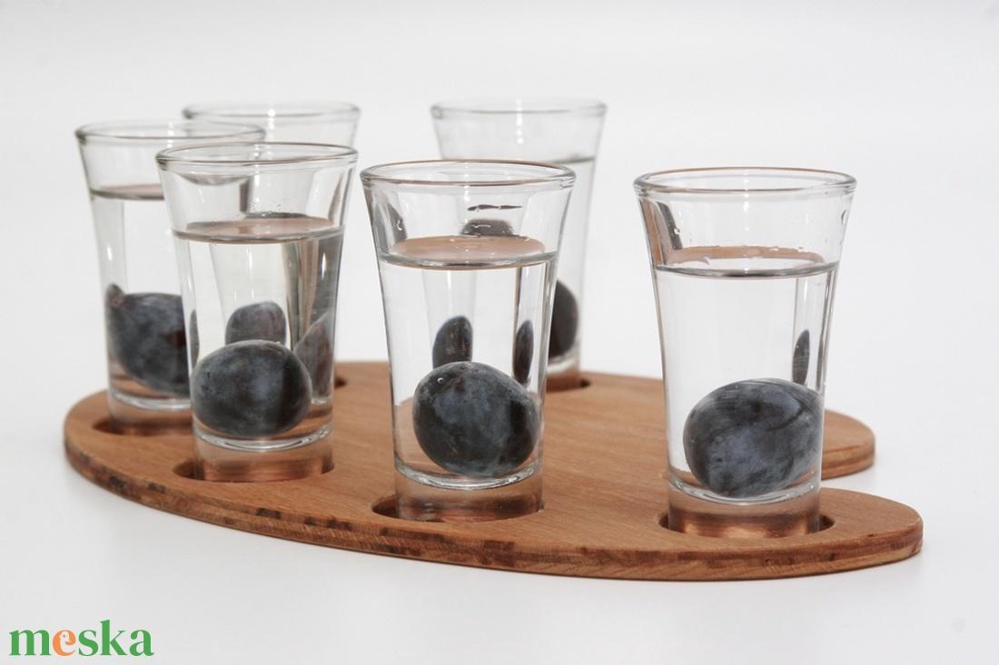 Pálinkás paletta - klasszikus pálinkás pohárhoz - otthon & lakás - konyhafelszerelés - tálca - Meska.hu