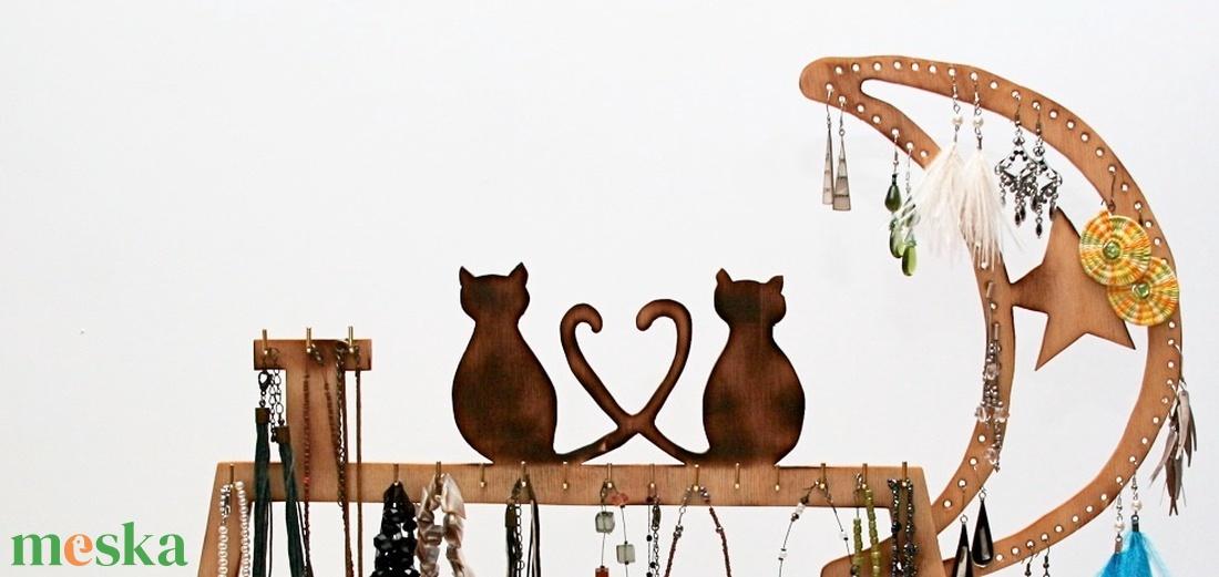 Ékszertartó macskákkal - ékszer - ékszertartó - ékszertartó állvány - Meska.hu