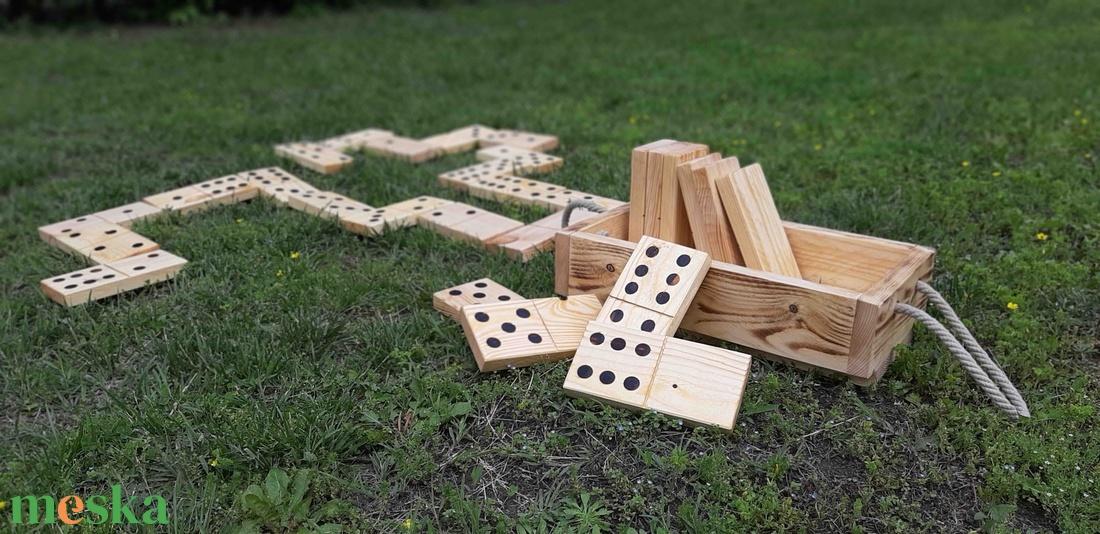 Kerti dominó fából - játék & gyerek - hinta & kerti játék - Meska.hu