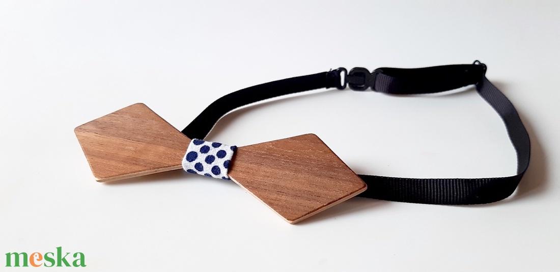 Fa csokornyakkendő dió színben - esküvő - kiegészítők - nyakkendő - Meska.hu