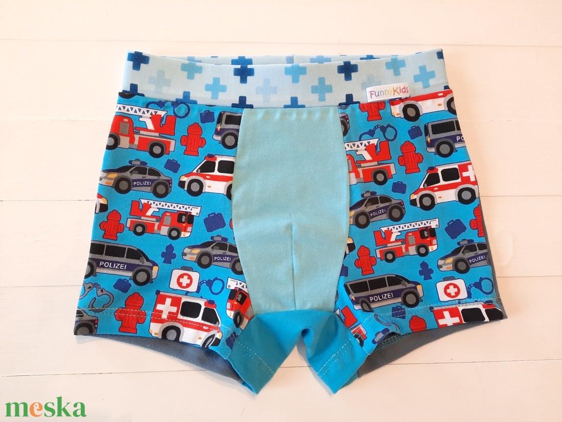TOMI rendőr mentő tűzoltó mintás boxer - ruha & divat - babaruha & gyerekruha - Meska.hu