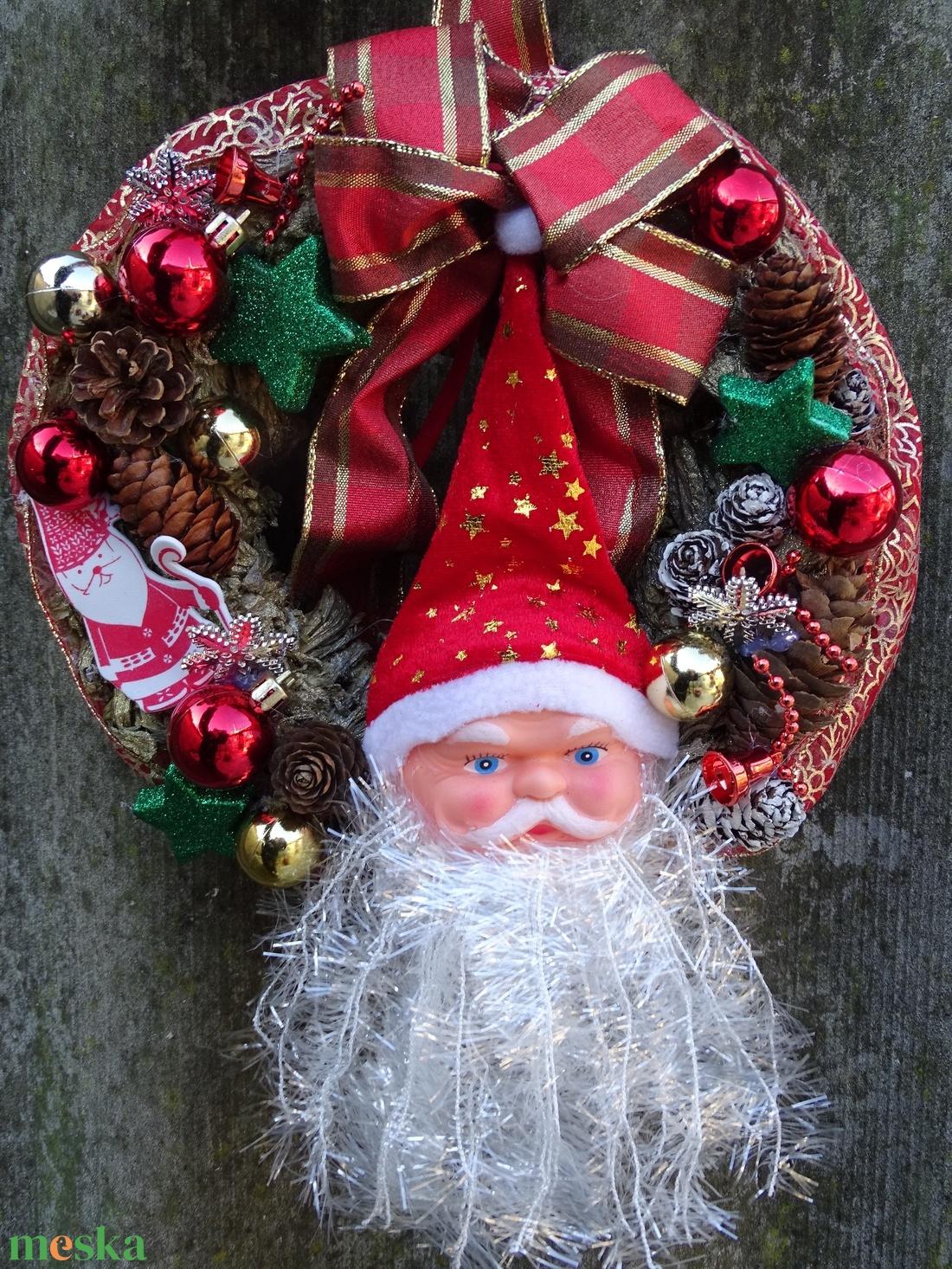 Mikulás ...téli, karácsonyi., ajtódísz,koszorú,kopogtató - karácsony - mikulás - Meska.hu
