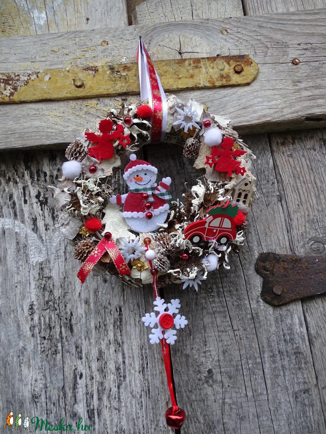Meseország-téli ,adventi ,csilingelő ajtódísz,koszorú,kopogtató - karácsony - Meska.hu