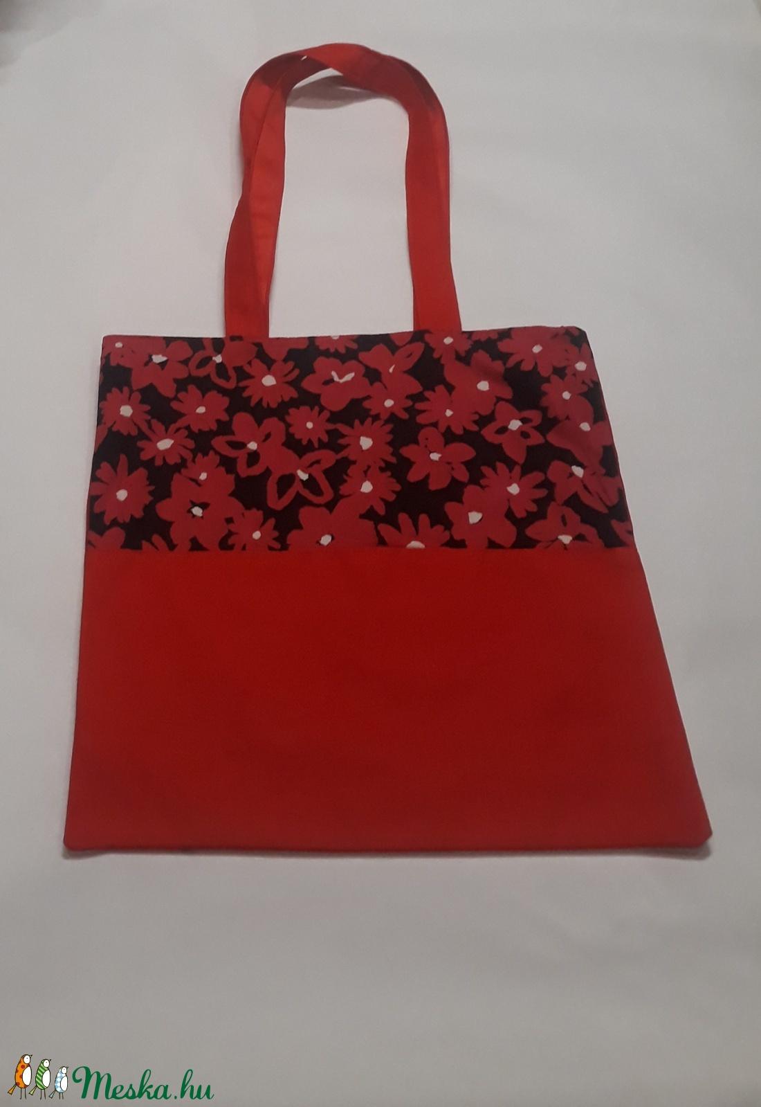 Piros virágos táska (GavrisBag) - Meska.hu