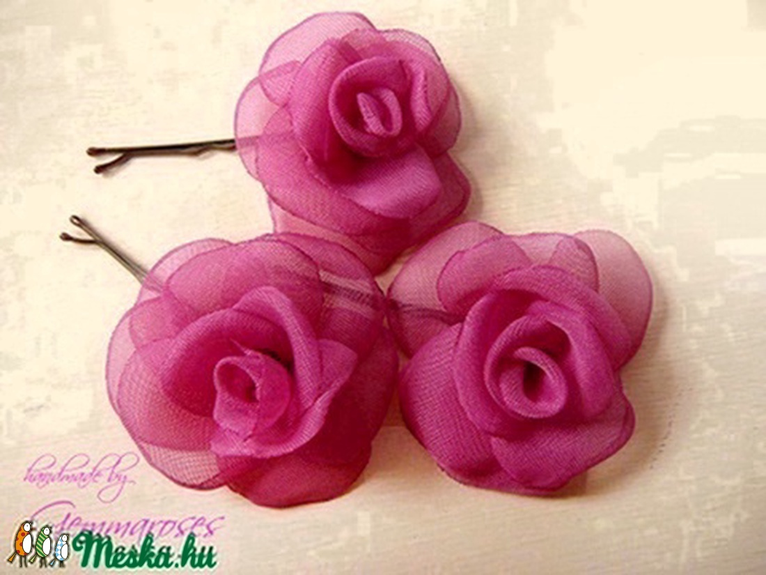 Mini rózsa-szett pink árnyalatban (gemma) - Meska.hu