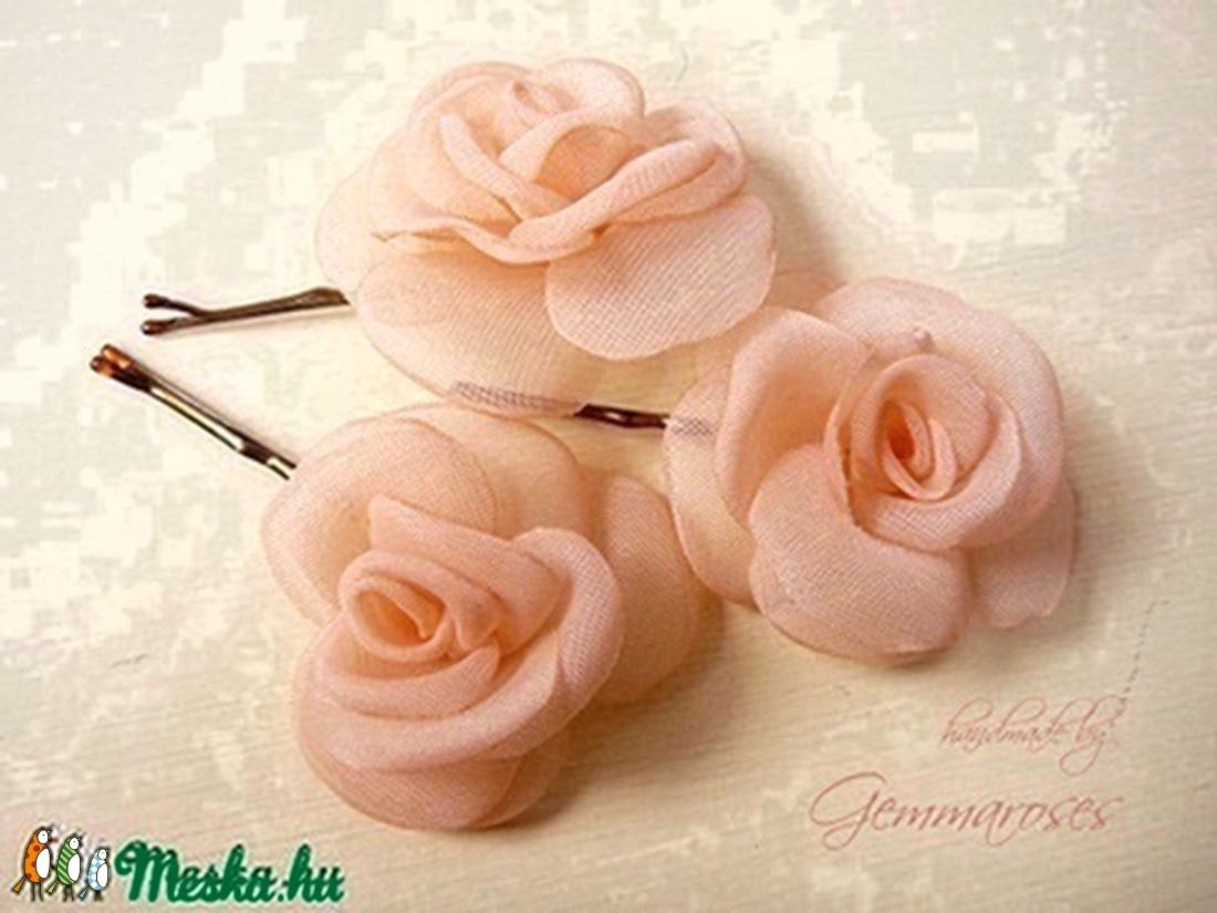 Mini rózsa-szett BARACK árnyalatban (gemma) - Meska.hu