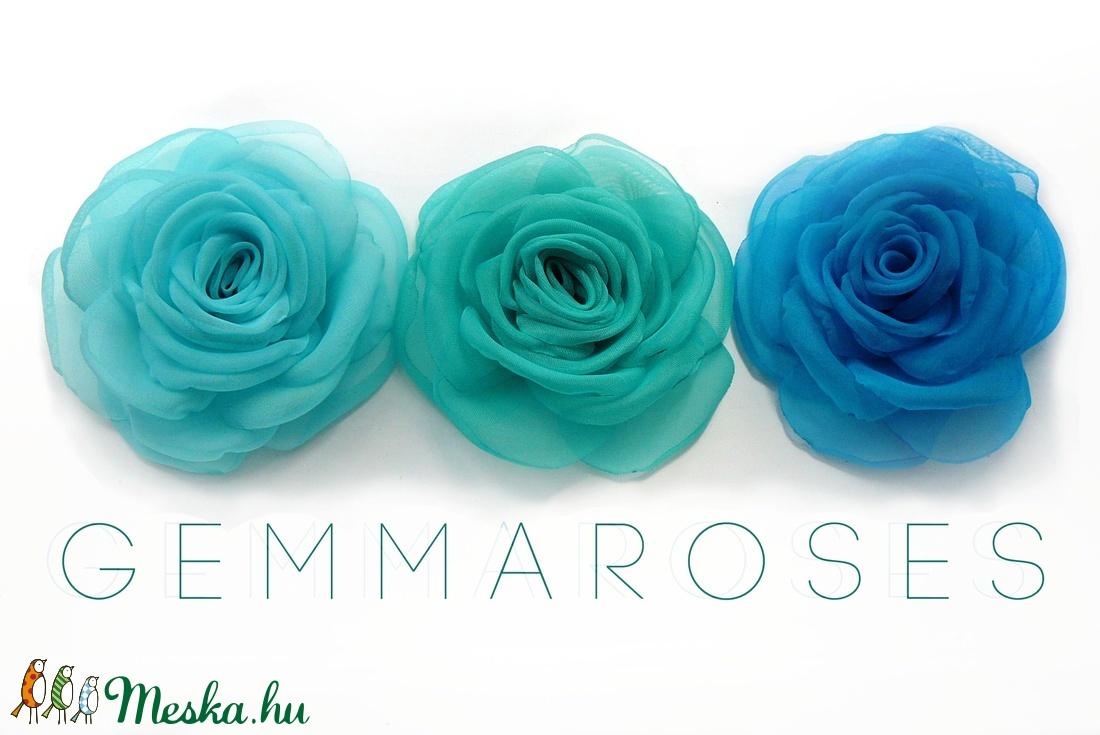 Tengerkék rózsa -szett(3db) (gemma) - Meska.hu