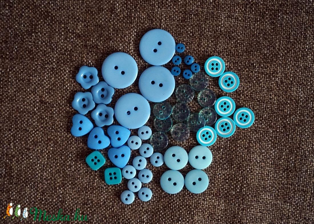 Gyönyörű kék színű gomb válogatás 50 db (GeRoNiGombok) - Meska.hu