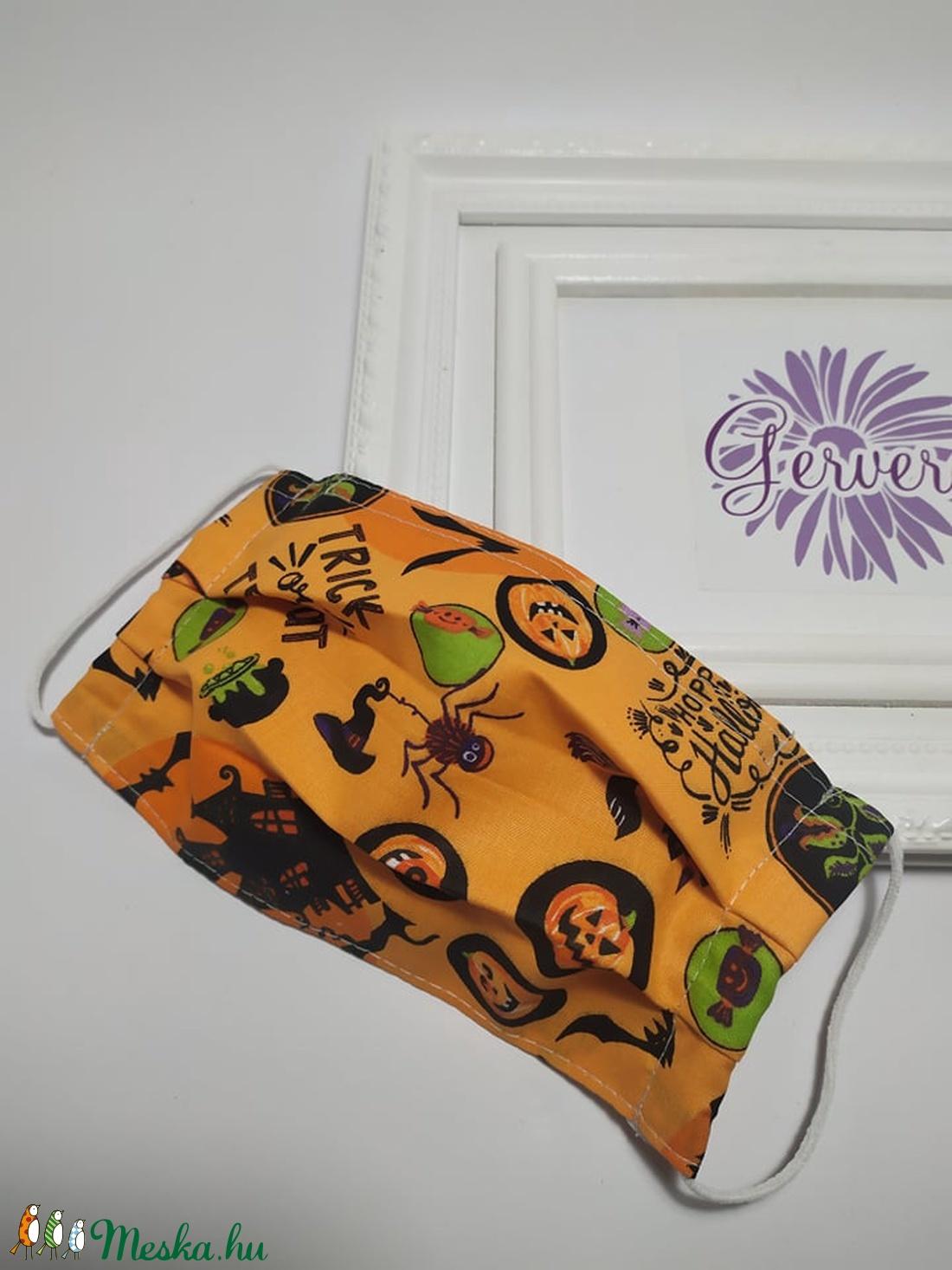 Textil maszk,kétrétegű, Halloween  (gervera) - Meska.hu